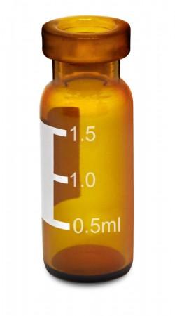 Vial crimp, 11mm, âmbar, com tarja, volume 2mL