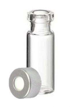 Kit vial 2 mL crimp, sem tarja, CLEAR com lacre de aluminio