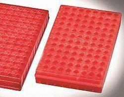 Rack reversível com 96 posições em polipropileno, vermelho.