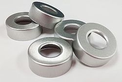 Lacre de alumínio crimp, 20mm, sem septo
