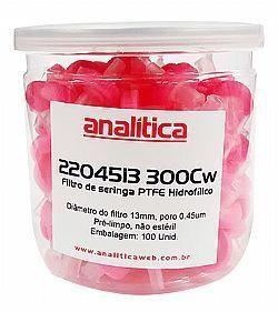 Filtro de seringa-PTFE Hidrofílico soldado 13mm x 0,45µm