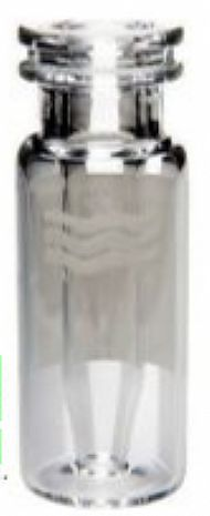 Vial Chromacol, snap, transparente, insert fixo, volume 0,3mL