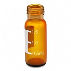 Vial borosilicato, volume 2mL, ROSCA, 9mm, âmbar, com tarja